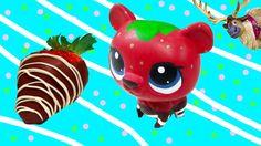 Custom LPS Bear Chocolate Dipped Strawberry DIY Littlest Pet Shop Disney...