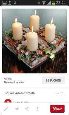 Weihnachten Handmade Christmas, Merry Christmas, Advent Wreath, Pillar Candles, Floor Lamp, Table Decorations, Winter, Crafts, Xmas