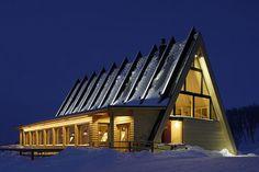 Triangular Wooden Restaurant in Sweden – Fubiz Media
