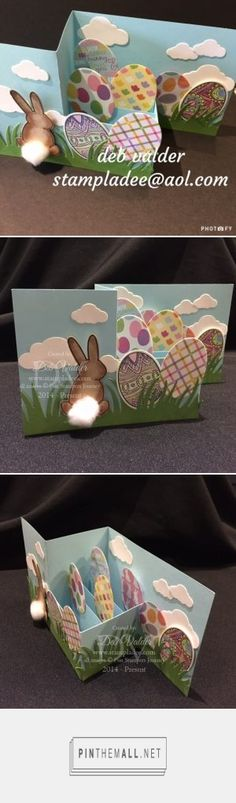 Deb Valer: Your Stamping Journey - Z Fold Bunny Bum Pop Up Box - 2/15/17. (Pin#1: Folds... Pin+: Easter: Bunnies).