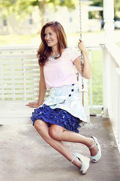 Vivienne Misses Skirt & Blouse - Violette Field Threads  - 1