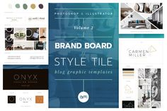 Brand Boards / Style Tiles VOL 2 by AM Studio on @creativemarket / Branding / logo design / web graphics / templates