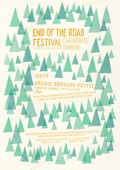 Christmas Shindig Poster 2010 designed by Owen Davey