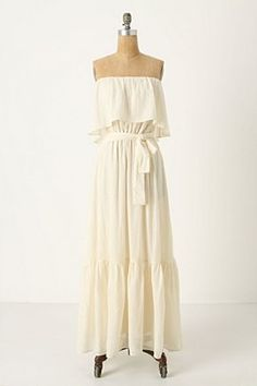 Anthropologie White Maxi Dress £158