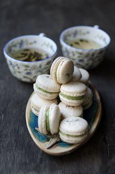 Jasmine Green Tea Macarons
