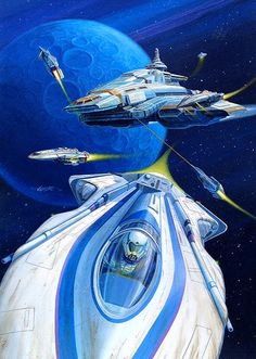 Leaving the Mother Ship.  #Spaceships  #Starships