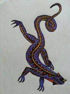 Mexican Art Alebrije Iguana