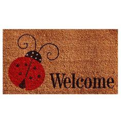 Calloway Mills 121431729 Ladybug Welcome Doormat, x Multicolor Summer Deco, Clean Shoes, Mold And Mildew, Free Items, Welcome, Ladybug, Bugs, Carpet, Doormats