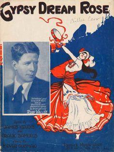 Gypsy Dream Rose vintage 1929 sheet music  Rudy Vallee