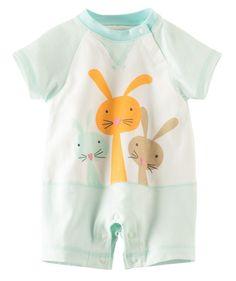 Baby Girl Three Bunnies Romper | Hallmark Baby Clothes