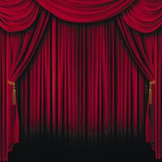 Red On Stage Theater Drapes Stage Curtains, Red Curtains, Velvet Curtains, Theatre Stage, Stage Show, Musical Theatre, Drama Theater, Cinema Theater, Puppet Theatre