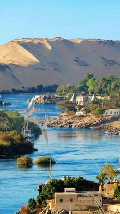 The Nile River~ Aswan, Egypt. Bob went on a Nile River cruise. Places Around The World, Oh The Places You'll Go, Travel Around The World, Places To Travel, Travel Destinations, Places To Visit, Around The Worlds, Wonderful Places, Beautiful Places