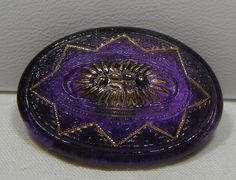 Large Lacy Oval Czech Glass Button