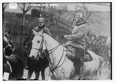 Archduke Carl Franz of Austria with a squadron of Dragoons, 1914