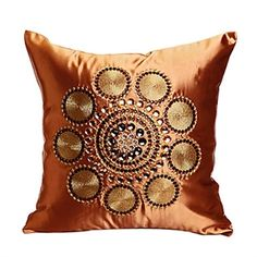 Traditional Reunion Embroidery Decorative Pillow Cover