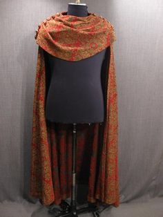 Cape Cowl red gold velour---this would be easy to make