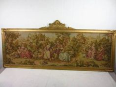 Large Framed Victorian Tapestry Wall Art