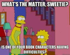 Marge knows the signs of a book hangover haha <3 Lisa