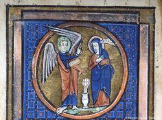 Psalter-Hours, MS M.153 fol. 14v - Paris 1228-1234 - Images from Medieval and Renaissance Manuscripts - The Morgan Library & Museum Associé à une Visitation