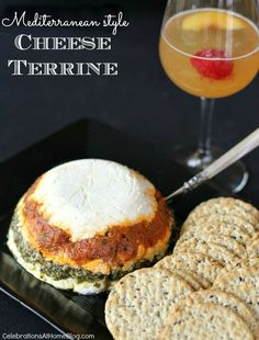 Make this layered Mediterranean-style cheese terrine for your next gathering. The flavors are intense and delicious.