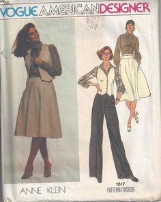 Vogue American Designer 1617 Anne Klein  Misses' Vest by Buyfoxy