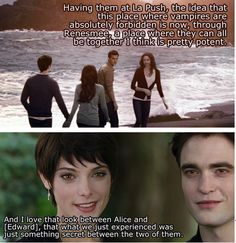 breaking dawn, alice showing edward a vision... I almost died at this part... one happy family