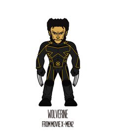Wolverine(X-MEN2)   http://herosandvillains.tumblr.com/post/12234651565 by TM