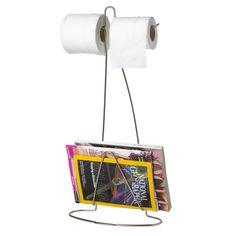Loo Read von Black+Blum ist ein praktischer Gegenstand und Helfer für das Badezimmer. Loo Read bietet Platz für Zeitschriften, Magazine und bis zu zwei Rollen Toilettenpapier.  Das schlichte Drahtgestell passt sich, sowohl von seinen Maßen als auch von der Optik her, problemlos auch in kleinere Badezimmer ein. Die Toilettenpapierrollen können leicht erreicht werden und lassen sich problemlos abrollen. Am unteren Ende besitzt Loo Read Platz für mehrere Zeitschriften, Zeitungen oder Magazine.