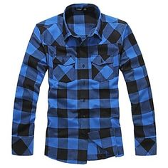 Mens Long Sleeve Stylish Check Shirt (3 Colours). Only at www.pandadeals.co.uk