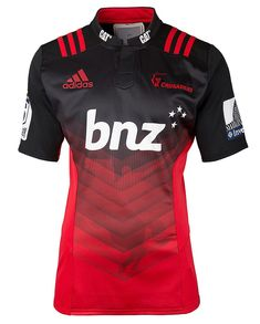 Show your support and buy super rugby jerseys from our huge range of Super Rugby kits at great prices., adidas Mens Super Rugby Crusaders Home Jersey Crusaders Rugby, Rugby Jersey Design, Camisa Nike, Messi Y Ronaldinho, Rugby Kit, Super Rugby, Soccer Shirts, Rugby Jerseys, Football Design