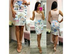 Kvetinová krátka sukňa s vysokým pásom - Mia Dresses Dna, Outfit, Floral, Skirts, Dresses, Fashion, Outfits, Vestidos, Moda