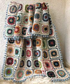 Wool Yarn, Needlepoint, Plaid, Blanket, Crochet, Handmade, Crocheting, Gingham, Hand Made