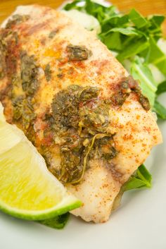 Cilantro Chipotle Tilapia with Greens Phase II (VCLD) and beyond. Healthy Meals, Healthy Recipes, Low Carb Lunch, Tilapia, Fresh Vegetables, Chipotle, Cilantro, Feel Better, Gourmet Recipes