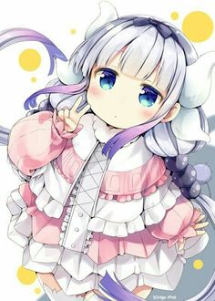 Anime: Kobayashi-san Chi no Maid Dragon Artist: Natsume Eri Anime Chibi, Lolis Anime, Moe Anime, Anime Art, Yandere Anime, Anime Eyes, Loli Kawaii, Kawaii Anime Girl, Anime Angel