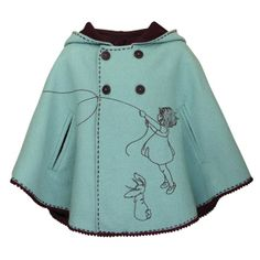 Fly A Kite Cape cost 68 lbs. whatever that translates into US dollars but love the color the style and most of all the embroidery