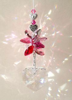 Swarovski Crystal Suncatcher Truly, Madly, Deeply  by DancingRainbows, $31.00 USD #shoppershour #craftshout #zibbet