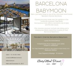 Celebrate your Pregnancy and spend your babymoon at one of the city's best loved hotels, Mandarin Oriental, Barcelona. Check out BabyMoon® Travel's Guide with 5 must-do activities for expecting couples on their Barcelona Babymoon.