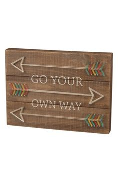 Primitives by Kathy 'Go Your Own Way' String Art Box Sign available at #Nordstrom