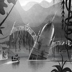 Concept Arts de Pete Oswald para Cloudy 2