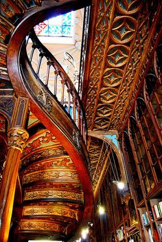 Stairs at Lello e Irmao Bookshop, Portugal by javier1949