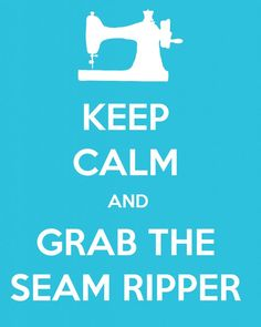 Use this free printable Keep Calm sewing image for your sewing room or craft space. Keep Calm and Keep Sewing.with the seam ripper close by! Sewing Room Decor, Sewing Rooms, Sewing Hacks, Sewing Tutorials, Sewing Tips, Sewing Ideas, Sewing Humor, Quilting Quotes, Quilting Blogs