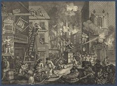 William Hogarth, The Times', nature of hell in art