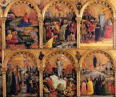 Antonio Vivarini - Polittico della Passione, dettaglio lato destro - 1430-1435 -  Galleria Franchetti, Ca 'd'Oro, Venezia