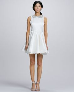 Lollie Crystal-Collar Party Dress by Alice + Olivia at Neiman Marcus. This dress is a beauty!!!