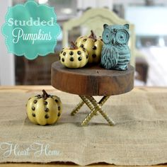 Studded Pumpkins- an easy beautiful project for fall!