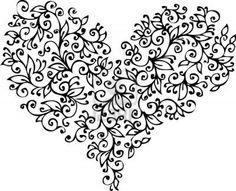Romantic Floral Refined vignette 18 Eau-forte black-and-white decorative background texture pattern  Stock Photo