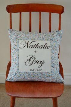 Wedding cushion Bed Pillows, Cushions, Ms, Pillow Cases, Crafty, Wedding, Pillows, Throw Pillows, Valentines Day Weddings