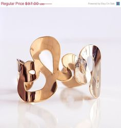 ON SALE 40 OFF Rose Gold Rose Gold cuff cuff by KelkaJewelry, $58.20