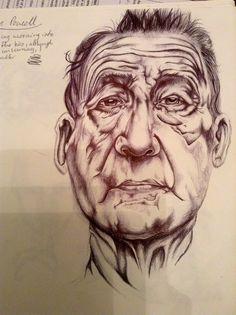 Mark Powell artist study by our very own Jade Dunn. :)