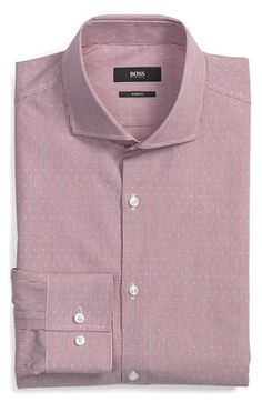BOSS 'Jason' WW Slim Fit Stripe Dress Shirt available at #Nordstrom